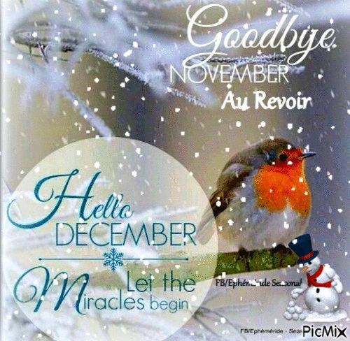 It's time to bid farewell to November, 2016 and welcome December, 2016. Many blessings, Cherokee Billie Spiritual Advisor