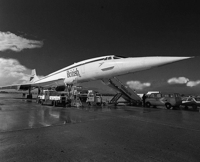 Concorde at Glasgow Airport taken by John MacIntyre for http://www.paisley.org.uk  Taken february 6th 2010
