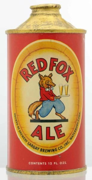 Red Fox Ale LP Cone Top Beer Can