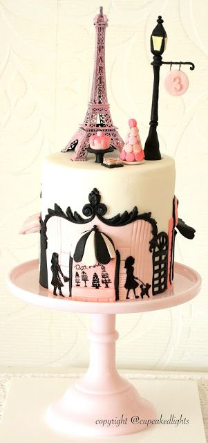#Paris themed Cake by cupcake d'lights {South Africa}