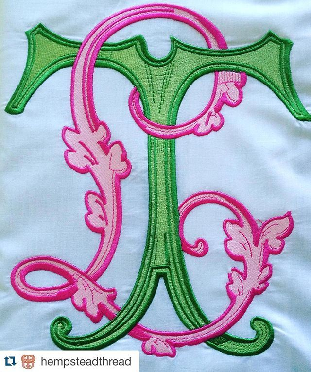 Completely and totally obsessed! Pink and green monogram love!