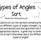 A math sort activity to review or learn about four different types of angles.  The angles included are: right, straight, acute, and obtuse.Ther...