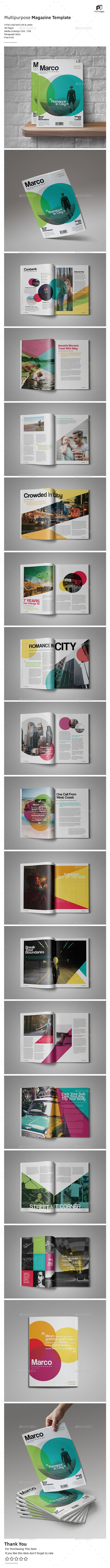 Catchy Magazine Vol.5 — InDesign INDD #universal #blue • Available here ➝ https://graphicriver.net/item/catchy-magazine-vol5/20682104?ref=pxcr