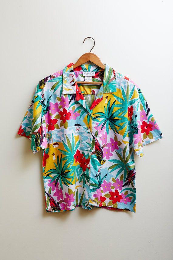 Vintage 1960s Tradition Sears Hawaiian Shirt Cotton