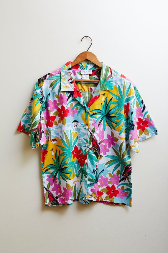 Vintage 1960s Tradition Sears Hawaiian Shirt Cotton