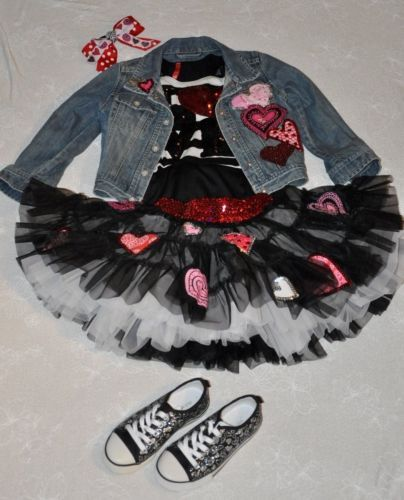 Girls custom Boutique Valentine pageant OOC holiday wear