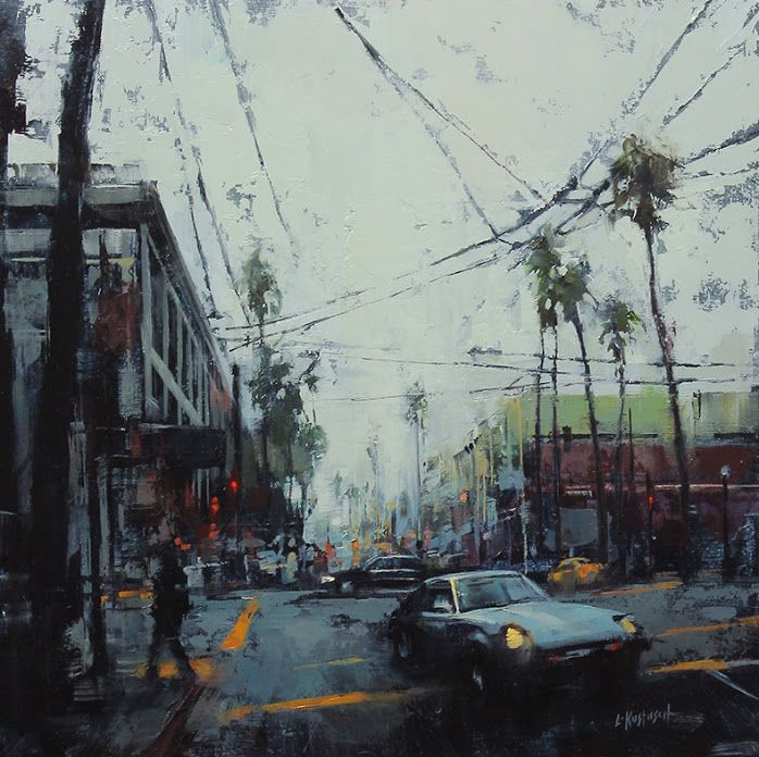 16th and mission lindsey kustusch oil on panel