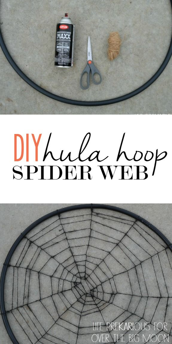 hula hoop spider web tutorial super affordable and easy wwwoverthebigmoon - Halloween Decorations Spider Web