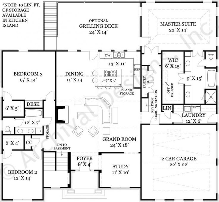 1000 images about plans on pinterest craftsman for Open ranch floor plans with basement