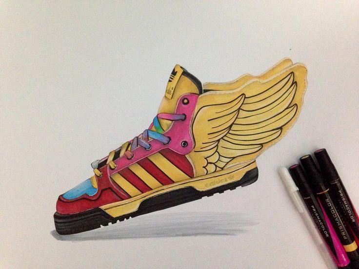 Adidas Original Jeremy Scott Wings shoes  #sketching #markerrendering #markersketching #prismacolor #markersketch #marker #mydrawing #sketch_daily #iddrawing #designsketch #pencilsketch #doodleday #doodleart #doodle #draw #idsketch #ID #productsketch #productdesignsketching #designsketching #sketchaday #sketchdaily #drawing #productdesign #sketchbook #sketch #sketching #diseñoindustrial #idsketching #adidassketch #adidas