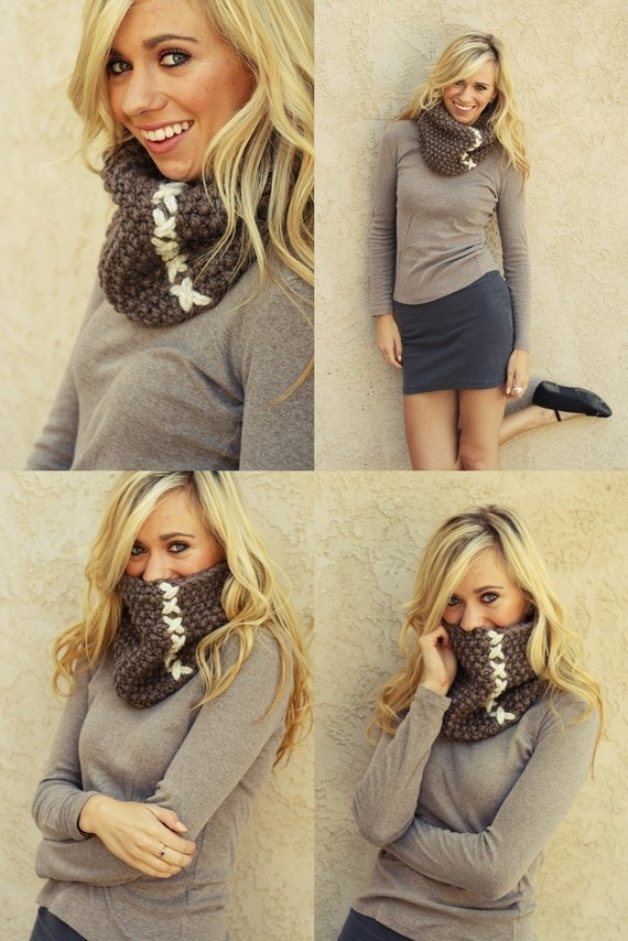 Neck scarves, Cowls and Cowl neck on Pinterest