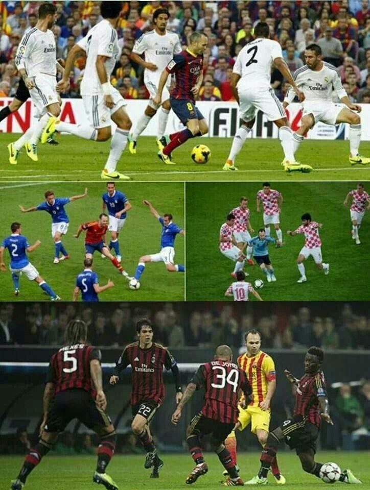 Image result for iniesta vs 5 player