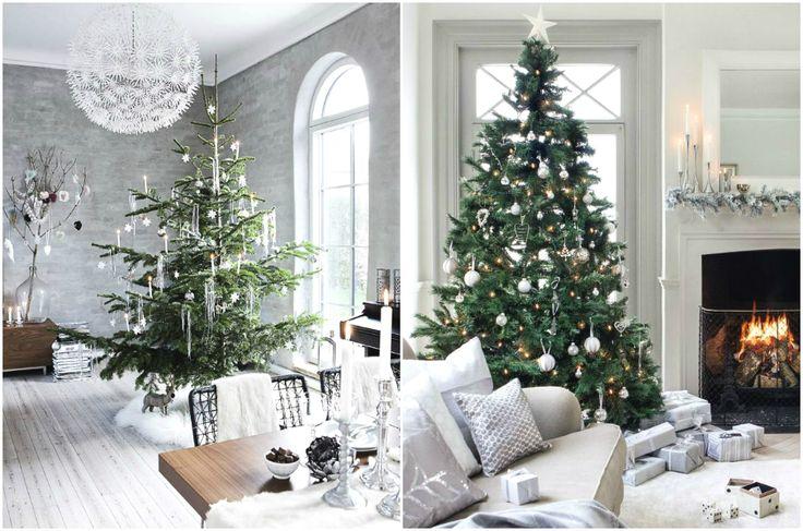 Элегантное оформление гостиной к Новому году