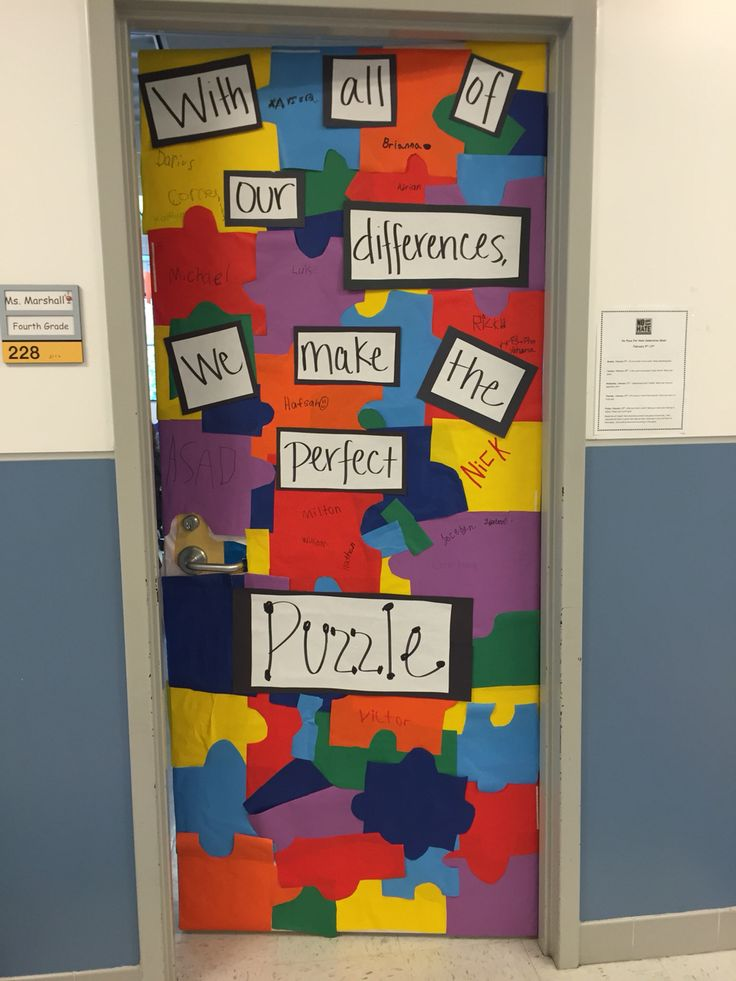 No Place For Hate Door Decoration With All Of Our Differences We Make