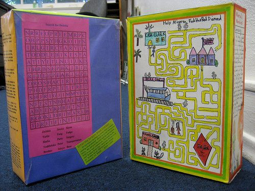 Cereal Box Project Examples Book Cereal Boxes And Book Reports