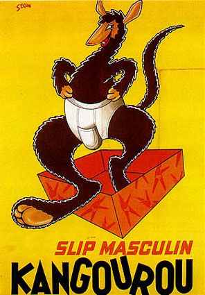 Kangourou, Bernard Seguin-Poirier Slip Masculin; Men's Underwear!