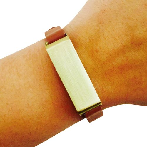 The KATE Tan and Gold Fitbit Bracelet for Fitbit Flex