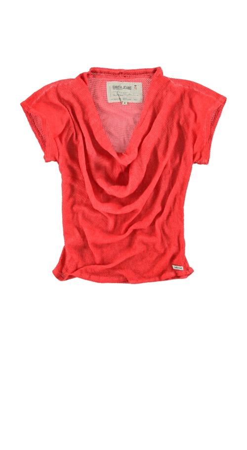 T-shirt Garcia A30004 MAXIMA WOMEN 9 Lolli red