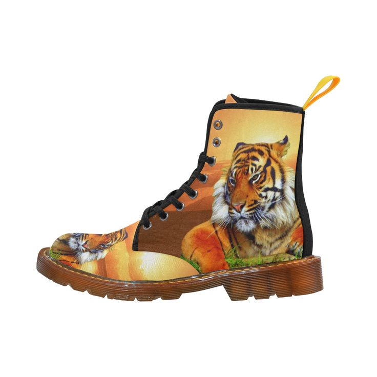 Sumatran Tiger Martin Boots For Men #erikakaisersot #artsadd #boots