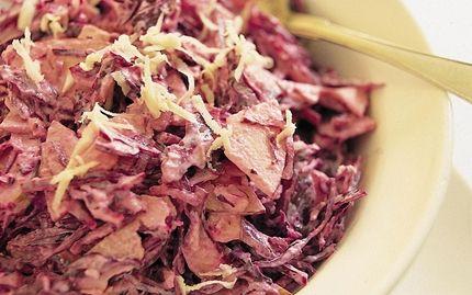 Coleslaw med rödkål - Recept - Arla