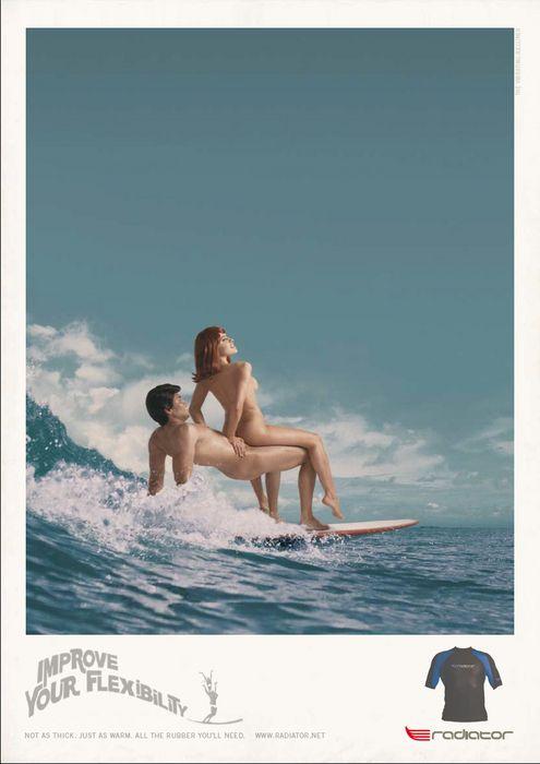 Le surfeur est à la mode et sa figure est récupérée par des marques et labels. La plage est loin de nous.