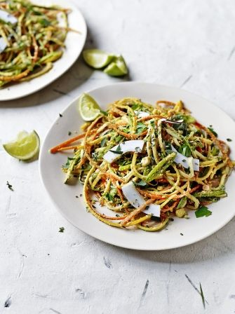 Veggie noodles with curried coconut sauce | Jamie Oliver