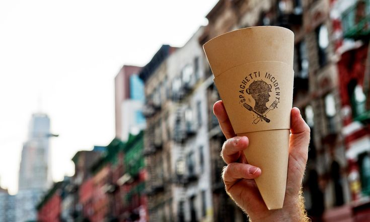 Spaghetti in a cone: a miracle of physics, a genius food delivery system