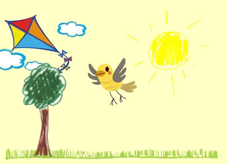 """Leggiamo insieme la storia per bambini """"L'uccellino aquilone"""" scritta da Alessia Pellegrini, che racconta l'amicizia e la libertà."""