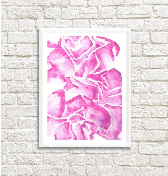 Bold Watercolor Abstract 25 x 35 High by LittleLotusFlowers