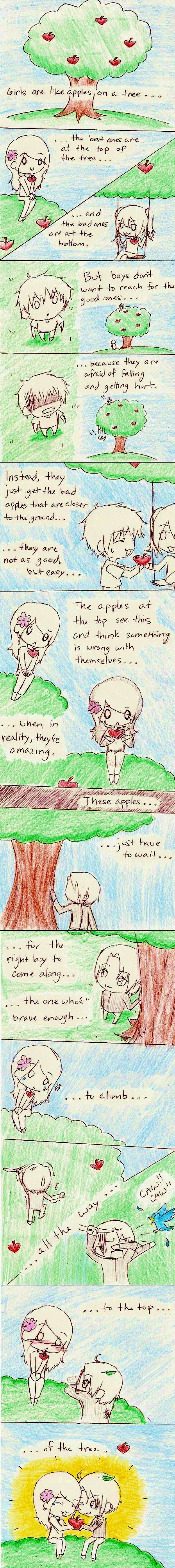 GIRLS are like APPLES by chococat830 on deviantART
