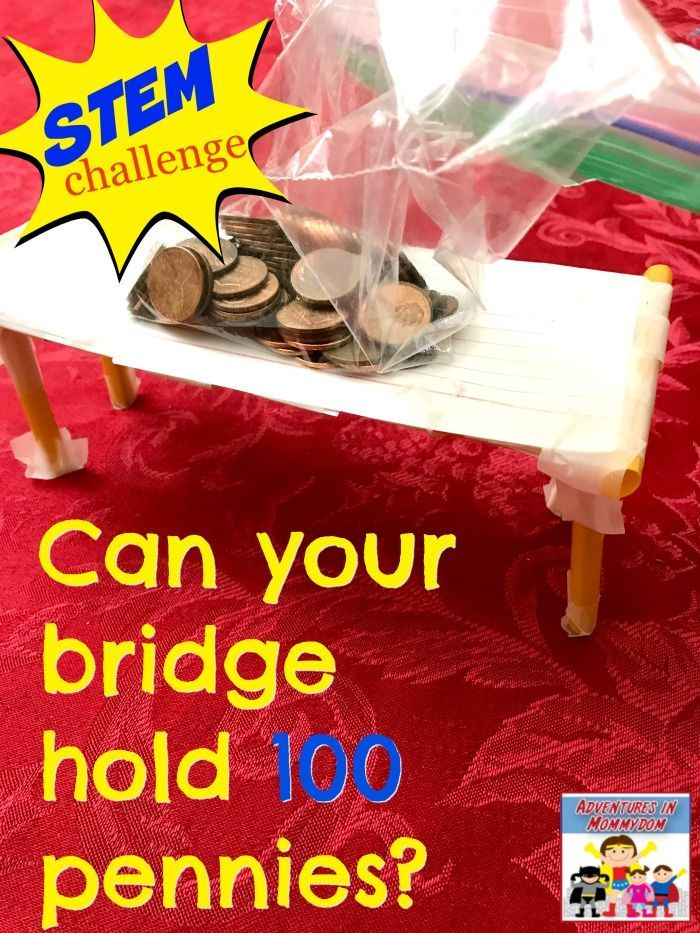 STEM challenge design a bridge