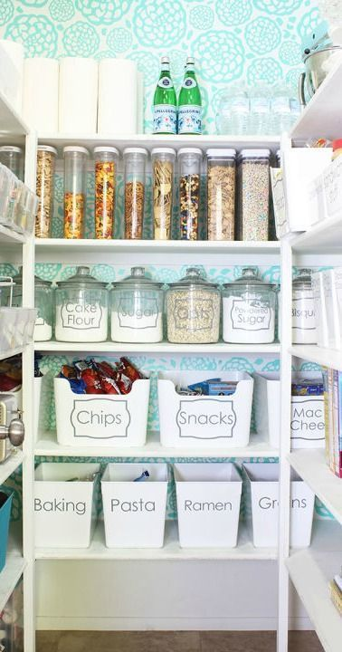This organized pantry is what dreams are made of! With a space for all your cooking and baking essentials, everyday ingredients, and kid-friendly snacks, these tidying tips are sure to inspire you to get every part of your home in order.