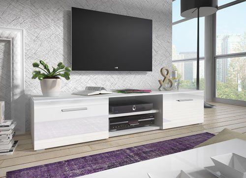 muebles bonitos mueble tv modelo olga en color blanco15 m