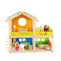 Hape Happy Villa Furnished Dollhouse