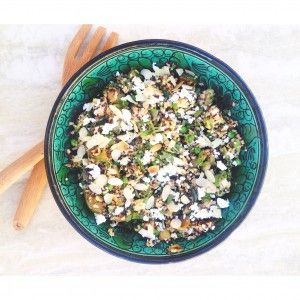 Minty green quinoa & brown rice salad - Recipe by Chloe Phillips APD
