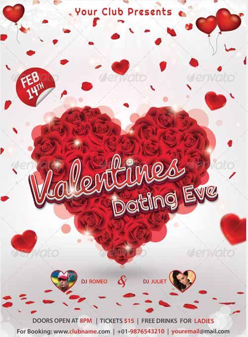 20 Locandine romantiche per San Valentino PSD