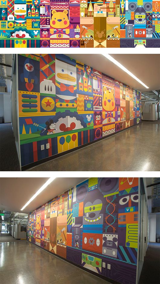 Disney Wall By Christopher Lee Wall Murals In Schools Can Be Very Art Inspiring For
