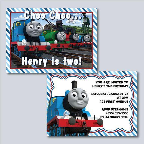 DIGITAL - Thomas the Train Birthday Invitation