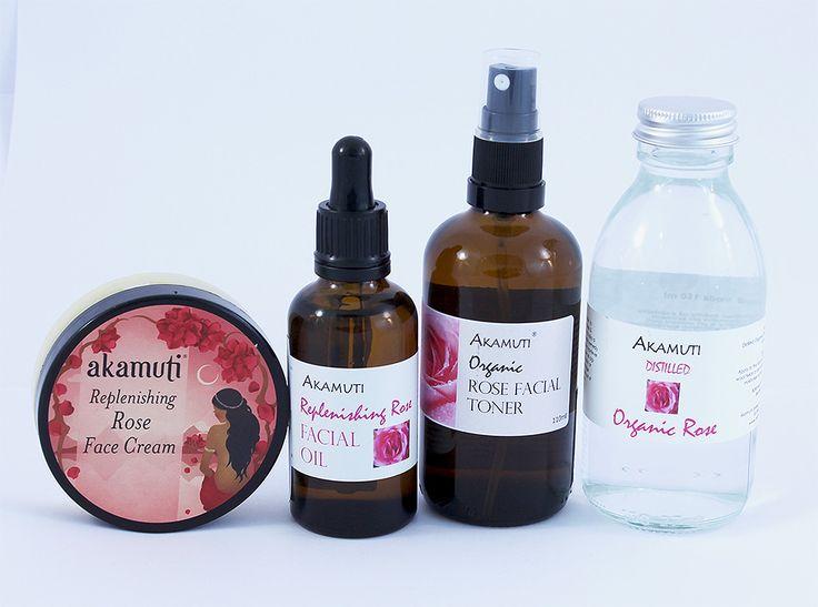 Ružová kozmetika od Akamuti je elixír pre pokožku. Vhodná pre všetky typy pleti vrátane podráždenej - ružový krém, olej, toner a bio ružová voda.