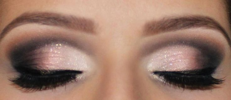 Pink and gray smoky eye @Cassi Reardon I like this one. Maybe just a little lighter on the gray