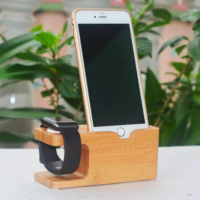 (228) Fancy - Wood iWatch Charger Holder & iPhone Holder