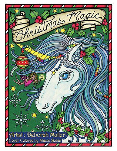 Christmas Magic Digital Coloring Book Pages Fantasy Art Adult