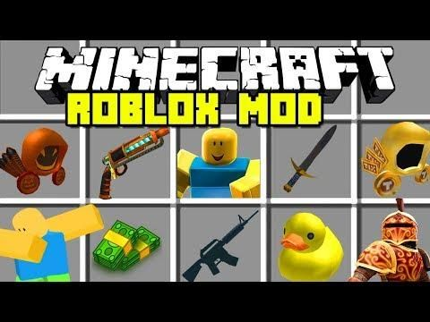 Minecraft ROBLOX MOD | COLLECT ROBUX AND BECOME A NOOB!! | Modded