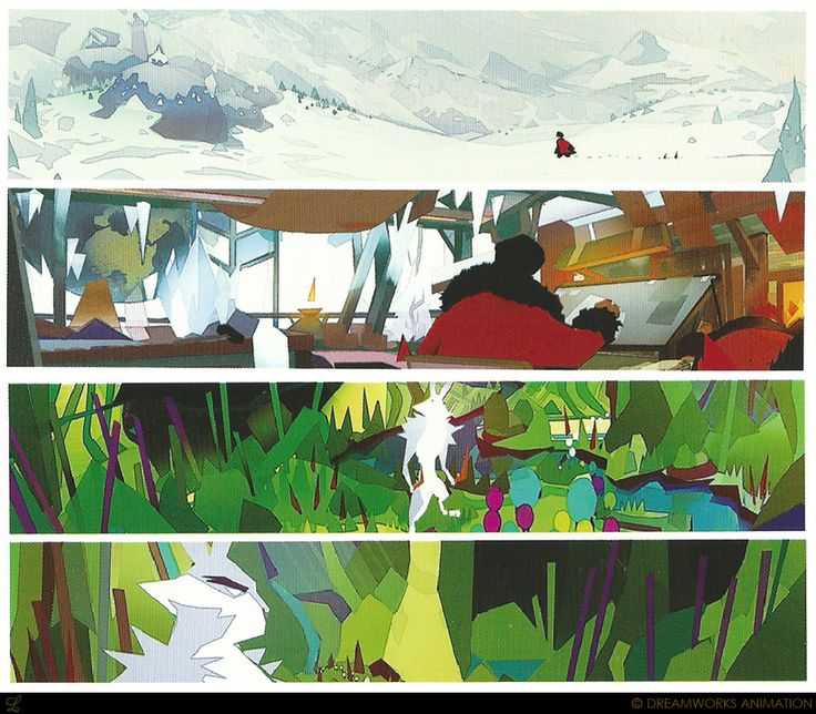 Living Lines Library: Rise Of The Guardians   Color Keys, Color Scripts U0026  Storyboards