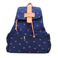 #Banggood Винтаж девочки маленькие цветы холст рюкзак школьный рюкзак (925689) #SuperDeals