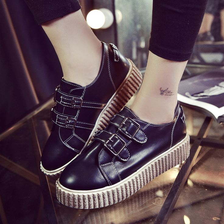 2017 Primavera Outono Sapatos Baixos Mulheres Flatform Trepadeiras Camurça Preta Trepadeiras Sapatos de Plataforma Mulher Do Vintage, Sapatos de Fivela em Apartamentos das mulheres de Sapatos no AliExpress.com | Alibaba Group