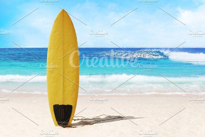 surf on the beach by Trefilova Anna on @creativemarket