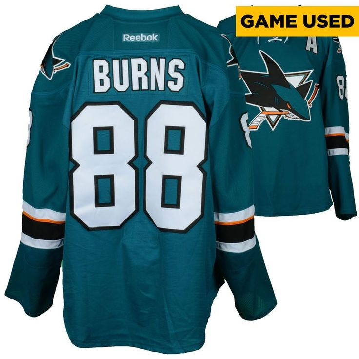 Brent Burns San Jose Sharks Fanatics Authentic Game-Used Home Teal #88 Jersey used vs. Calgary Flames on April 8, 2017 - Size 58