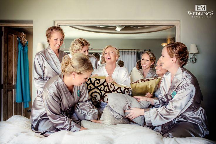 Bride and Bridesmaids at Pedregal Los Cabos. #emweddingsphotography #destinationweddings