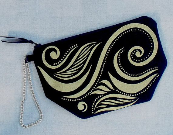 Clutch bag makeup purse evening purse by TongueinChicHome on Etsy, $27.00